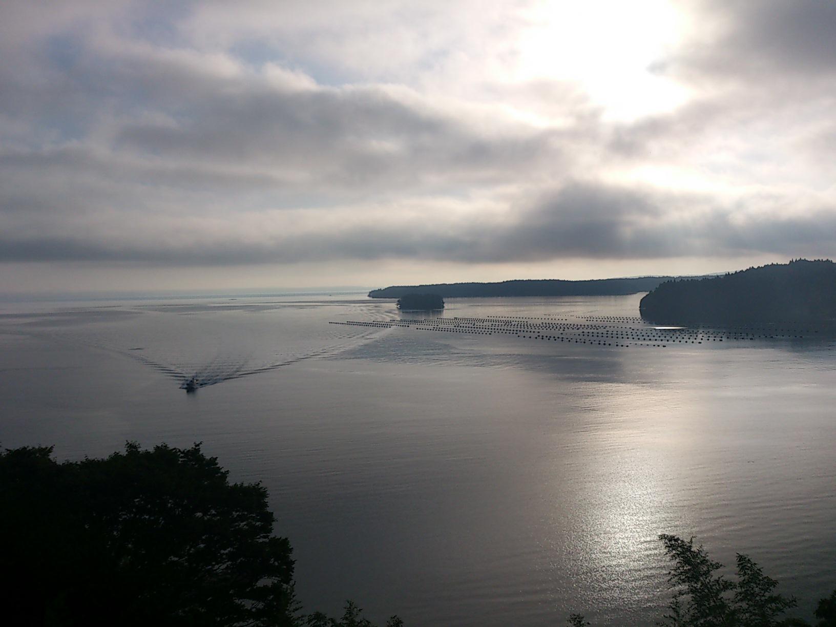 能登島の朝陽